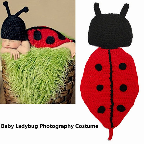 Cute Baby Knitted Ladybird Photo Props