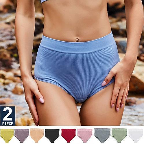 2pcs/Set Sexy Women Panties High Waist