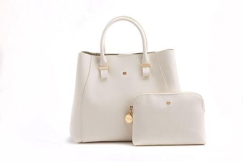Jane - Off-White Vegan Leather Satchel