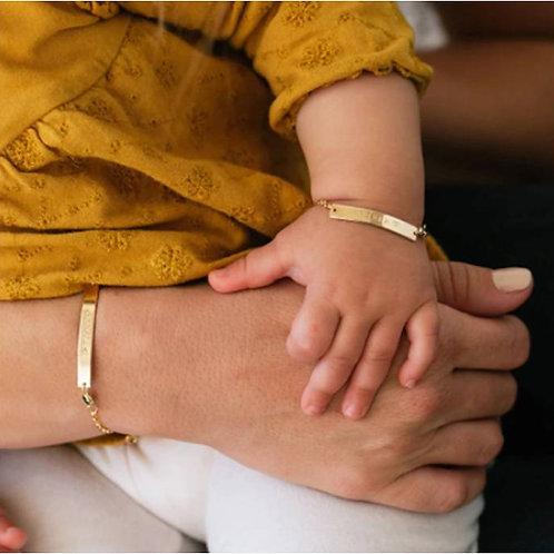 Personalized Baby Name Bar Bracelet (JW01018)