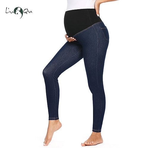 Women's Maternity Jeans Super Stretch Slim Fit Leggings