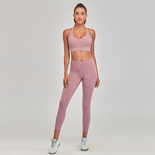 Gym Fitness Yoga Set Seamless Sportswear for Women 2 Piece Sets