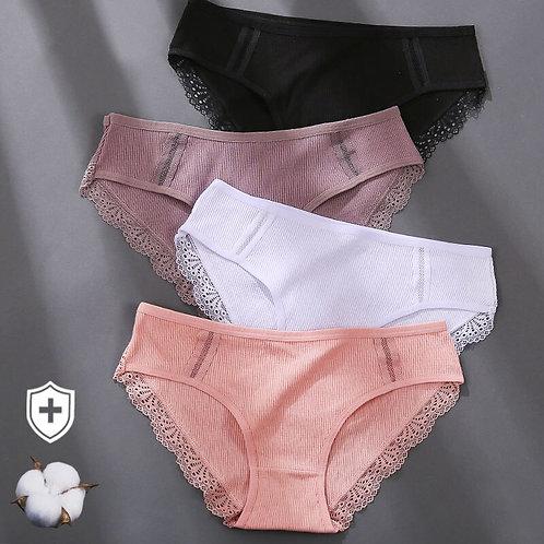Soft Lingerie Lace Briefs for Woman Cotton