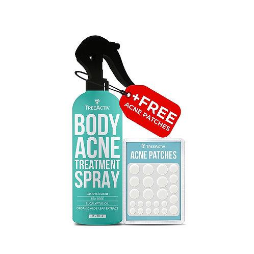TreeActiv Body Acne Treatment Spray + Acne Patches
