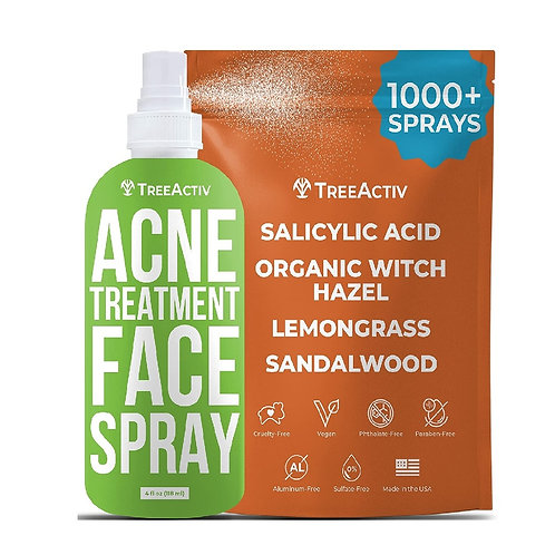 TreeActiv Acne Treatment Face Spray | Salicylic Acid Facial Mist for Pimples