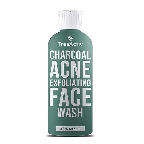 TreeActiv Charcoal Acne Exfoliating Face Wash