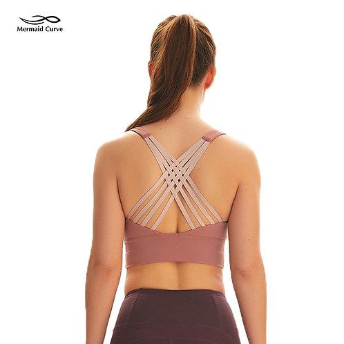 Strappy Open Back Yoga Bra