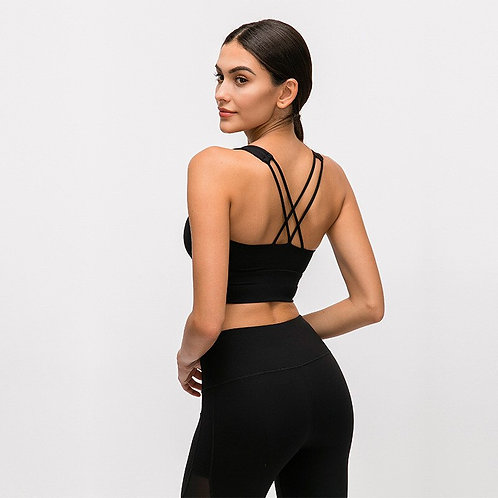 Double Cross Workout Gym Tops