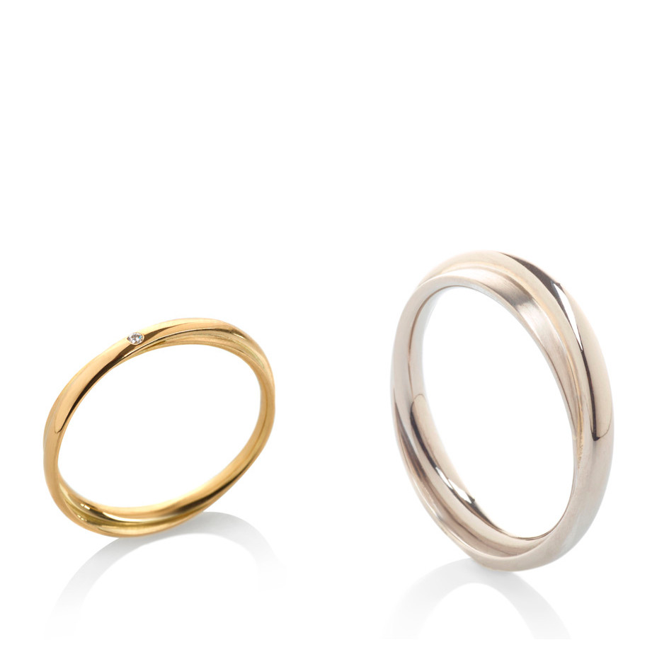 Engagement and weddingrings