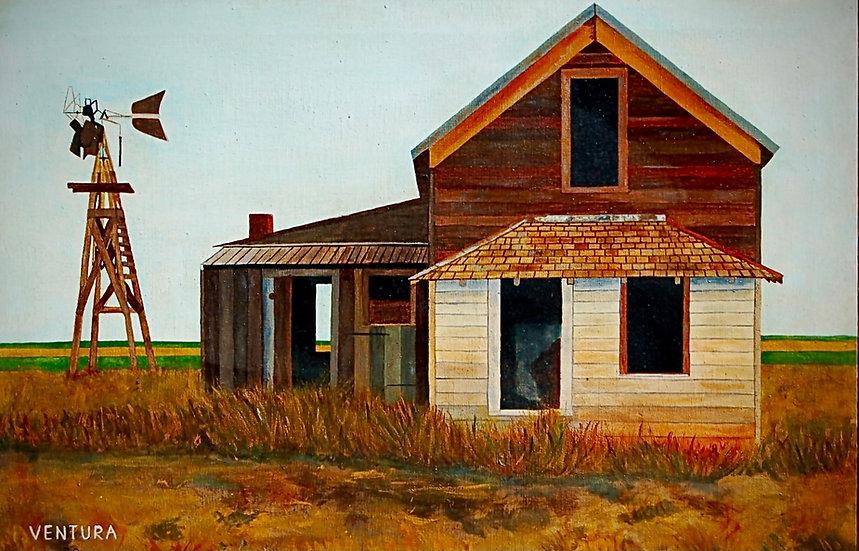 """FARMHOUSE _________  GICLEE (24"""" x 36"""")"""