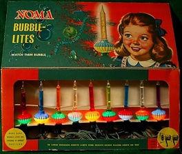 Vintage Noma Bubble Lights