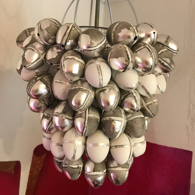 duck egg chandelier