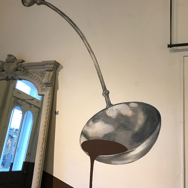 Giant Silver Ladle Mural