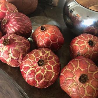 Carved Pommegranates