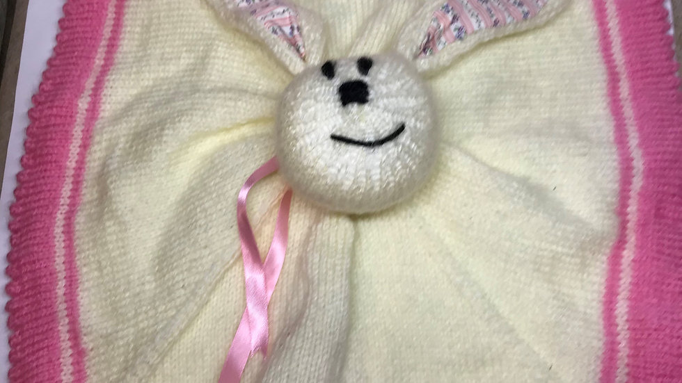 Pink Bunny Baby Snuggly