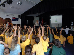 'It was inspiring for the children to listen to an author speak about writing and where she gets her