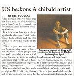 US Beckons Archibald Artist