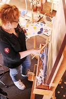 Bronwyn in her Pilbara Studio