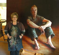 Bronwyn & portrait of Steve Bisley