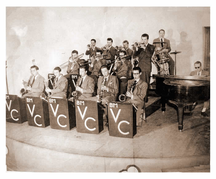 Bitsy's band at the University of Arkansas in 1947