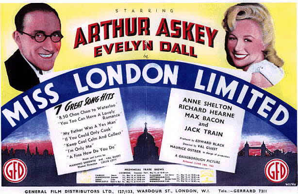June 1943 Miss London Ltd poster