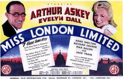 June 1943 Miss London Ltd poster