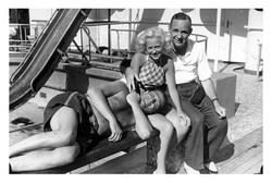 Fun on deck on board ship