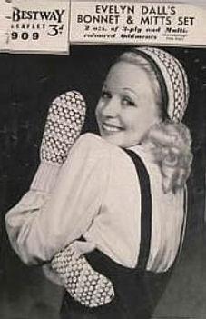 Eveyn models her Bonnet and Gloves set
