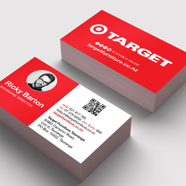 Target Furniture Business Cards