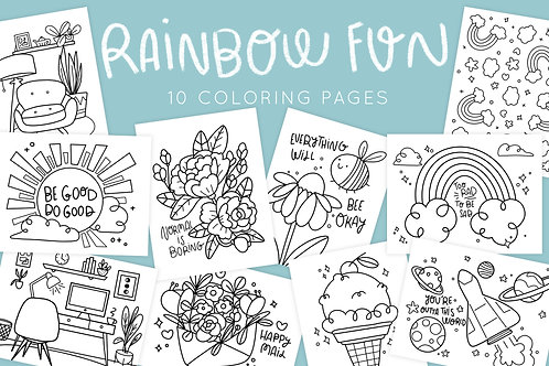 Rainbow Fun Coloring Pages