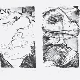 JaneGiblin_Big Dog, lithograph, 20cm x 2