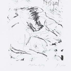 JaneGiblin_Angel on Big Dog, lithograph,