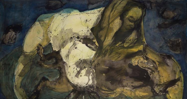 Jane Giblin, The Ermine Crouch 120cm x 1
