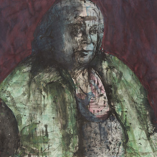 My Mother Judi, by My Self, 4, ink and pigment on arches aquarello, 2020 114cm x 114cm