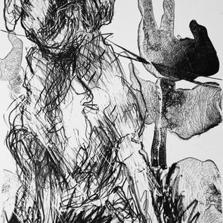 The Anxious Boxer of Salamanca Place, lithograph 2020