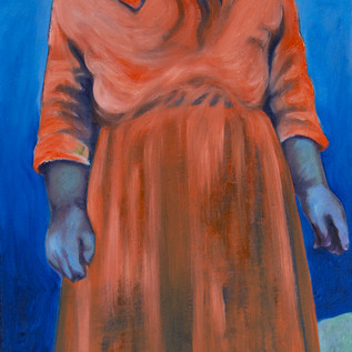 Great Aunty Nellie Willis in Franklin Sound, oil on canvas, 2020
