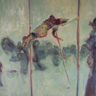 Emita Sports Day, 1920s, oil on canvas, 2020
