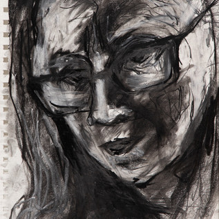 Self Portrait for Jody Graham project_2020, pastel on magnani