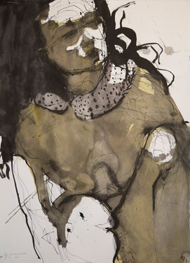 The Neck Fur, 86cm x 60cm, ink and pigme