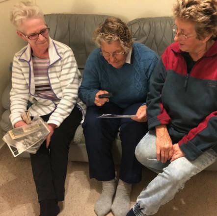 Frances Claybrough, Marje Virieux and Frances Henwood at Mololo, Lady Barron