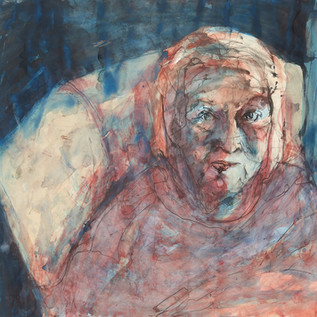 My Mother Judi, by My Self, 3, ink and pigment on arches aquarello, 2020 114cm x 114cm