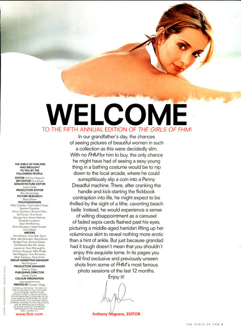 The Girls of FHM 2000 - Into Page 1