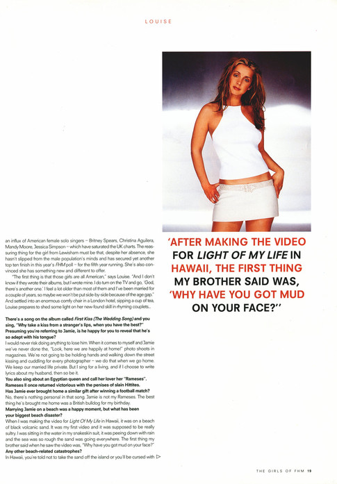 The Girls of FHM 2000 - Article 04