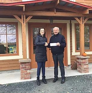2 500$ Remis à la Fondation de la Maison Desjardins des Soins palliatifs du KRTB
