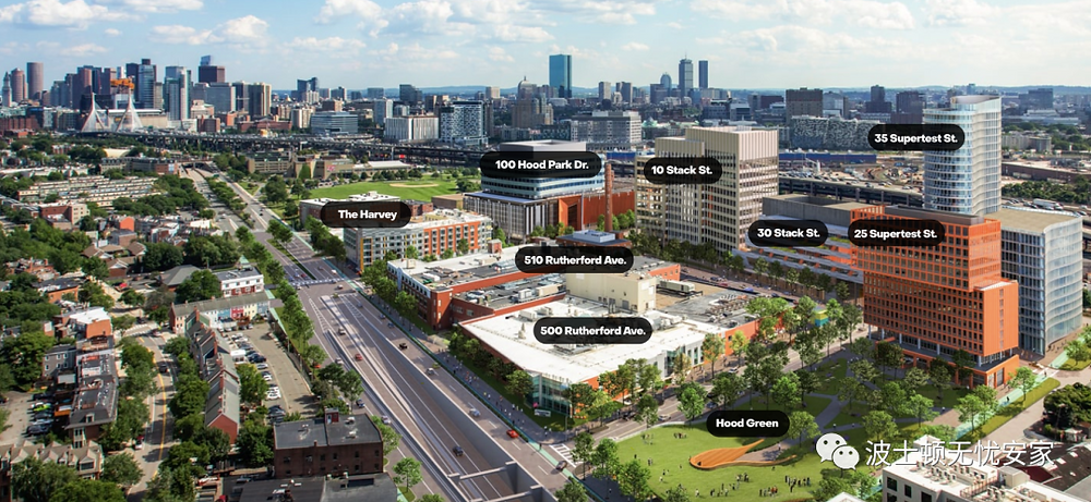 Hood Park 建设项目,将包括七栋全新建筑、数栋全翻新大楼,和一个公共公园。