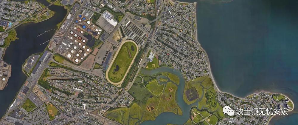 Suffolk Downs aerial shot