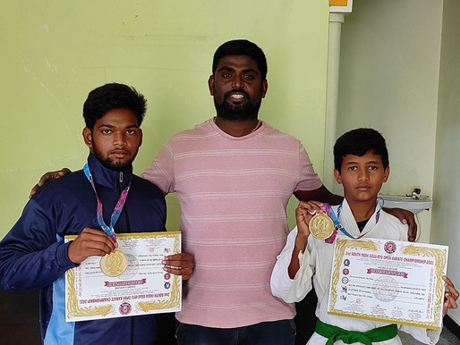 Palamuru boys shine at 2nd South India online e-kata Karate Championships