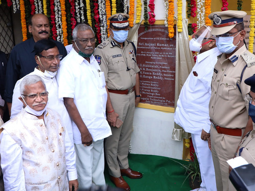 CP Anjani Kumar launches CC camera control room at MLA Colony