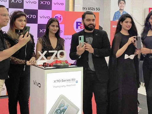 Vivo x70 pro series Unboxing done At Pai International Hyderabad