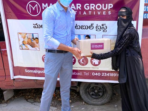 Malabar Group CSR Distributes Grocery Items in  Somajiguda At Hyderabad